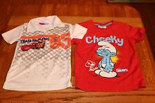 Smurfs And  Disney Cars T-shirts For Boys. Size 3-4