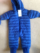 BNWT NEXT Navy Blue Snowsuit All in One Up to 3 Months 14lbs