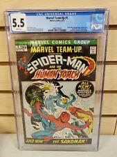 Marvel Team-Up #1 1972 MARVEL Human Torch Spider-Man Misty Knight CGC 5.5
