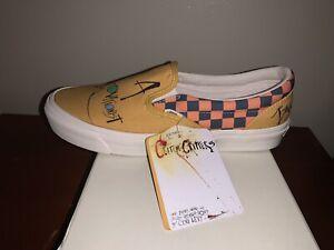 Vans X Ralph Steadman Gonzovationist Slip on Classic Vault Yellow Men Size 11