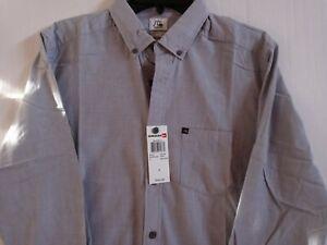 NWT Quicksilver Modern Button Down Shirt Small Grey $49~Free Ship!