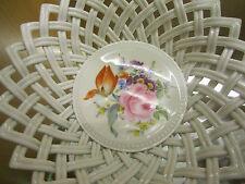 Meissen,Durchbruchschale, Flechtkörbchen, Blumenbouquett Blumenmalerei
