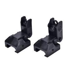 20mm Rail Gen Tactical Folding Front & Rear Set Flip Up Backup Sights Black