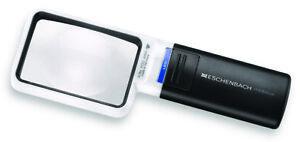 Eschenbach 3.5x Mobilux Rectangular LED Lighting Pocket Magnifier Germany New