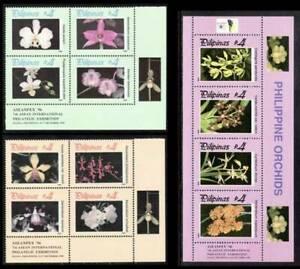 Philippines – 1996 Orchids 2-Se-tenant B/4 + Souvenir Sheet, MNH OG, F-VF