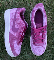 """Nike Air Force 1 LV8 Crushed Velvet """"Tea Berry"""" Size 7 7Y Women's 8.5 84935-601"""