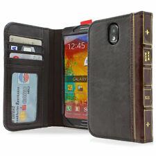 Retro Buch Style Handytasche für Samsung Galaxy Note 3 N9000 N9005