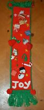 SPECIAL DEAL VINTAGE HANDMADE CHRISTMAS BANNER WITH ORNAMENTS ONE OF A KIND