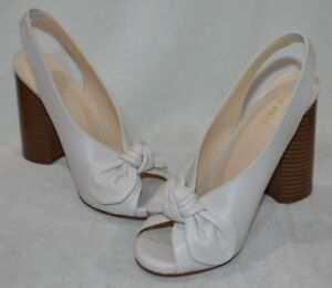 Nine West Women's LUCIANO Off White Slingback Heels Pumps - Size 8/8.5/9 NWB