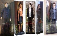 Twilight Saga Pink Label Barbie Doll Lot of  5 Edward,Bella,Jacob,etc.