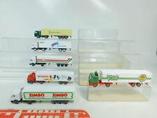 BO655-1 #6x Wiking H0 / 1:87 Camión MB: 515 Lanza + 542 Sitag Etc. + 543 Zimbo
