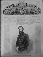 1865 USA SHERIDAN PHILIPP GENERAL UNIONISTE PORTRAIT