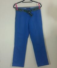 TOMMY HILFIGER Men's Pants Trousers Size 18 W30 Blue Green Straight Leg Belt Men