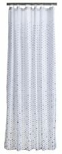 Zone Badevorhang Duschvorhang 180 x 200cm grau weiß drops mit Punkten
