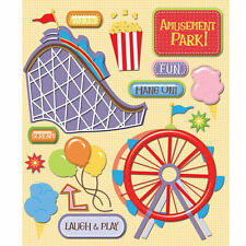K&COMPANY STICKER MEDLEY AMUSEMENT PARK ROLLER COASTER SCRAPBOOK STICKERS