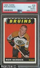 1965 Topps Hockey #36 Ron Schock Bruins PSA 8 (OC) NM-MT