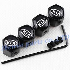 Anti-theft Black Metal Car Wheel Tyre Tire Stem Air Valve Cap KIA Vehicle Motors