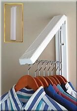 Wall Mount Collapsible Hanger Drying Holder Drainer Clothes Laundry Bar Indoor