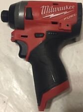 """MILWAUKEE 2553-20 1/4"""" M12 FUEL HEX IMPACT DRIVER TOOL ONLY (Nice CONDITION)"""