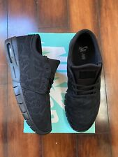 Nike Stefan Janoski Max SB 'Triple Black' Skateboarding Shoe Sz 11 631303 099