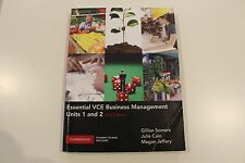 Essential VCE Business Management Units 1 and 2 with CD-Rom by Gillian...