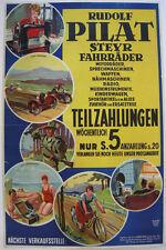 Steyr Fahrräder Nähmaschinen Motorräder Werbeplakat Orig Lithografie 1930