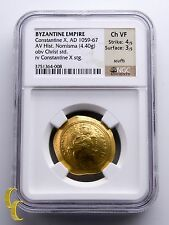 Byzantine Empire 1059-67 Gold Histamenon Nomisma Constantine X Graded by Ngc