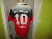 "FSV Zwickau Lotto Matchworn Trikot 1995/96 ""Keilberg"" + Nr.10 Hermel Gr.L TOP"