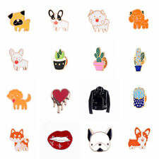 Cute Enamel Cartoon Brooch Pin Dog Pet Jewellery Badges Collar Lapel Women Girl