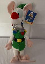 Vintage Christmas Pinky Elf and the Brain Plush Dakin 1995 Animaniacs NWT