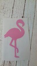Flamingo Pink Vinyl Car Decal Tumbler cup mug tablet 3.5 h. Birds flock. Beach.