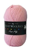 Cygnet Truly Wool Rich 4 Ply / 50g Ball / Choice of Shades available *Free P&P*