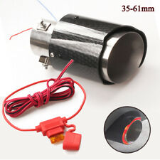 Carbon Fiber Auto Car Exhaust Muffler End Tail Pipe With LED Light Accessories