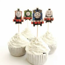 12x Thomas Train Engine Friend Cupcake Topper Pick. Lolly Loot Bag Bunting Deco