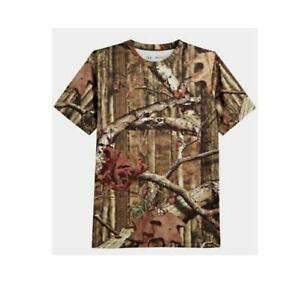 Under Armour UA EVO Youth L Mossy Oak Breakup Camo Tee Shirt 1215923 FAST! AZ