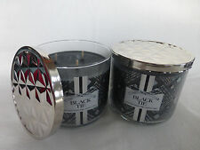 2 Black Tie Scented Candle Bath & Body Works 14.5 Oz