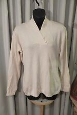 VINTAGE  ~  THE CLOTHING COMPANY ~ Cream JUMPER ~ Size M  *