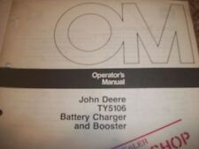John Deere Operator'S Manual Ty5106 Battery Charger And Booster