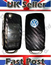 VW Audi Skoda Seat Key Fob Carbon Fibre Effect Car Sticker Decal Wrap T4 T5 Golf