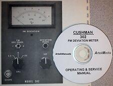 Cushman 302 Deviation Meter Operating Amp Service Manual