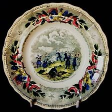 Interesting E 19th.C French plate commemorating the 1st assult on Constantine