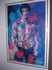 LeRoy Neiman ROCKY BALBOA Poster Art Picture Framed 1982 RARE VINTAGE