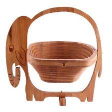 apilables Plegable Madera Fruta Cesto elefante, Plegable Bambú Frutero