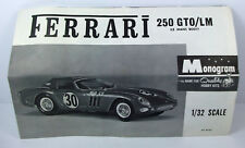 Monogram 1:32 FERRARI 250 GT0/LM; No. PC 101; INSTRUCTIONS ONLY; Leaflet