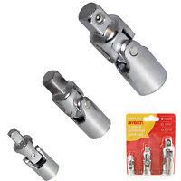 "Am-Tech 3pc Universal Joint Adaptor Socket Flexible Set 1/4"", 3/8"", 1/2""  I6350"