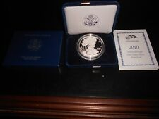 2010-W AMERICAN  EAGLE 1 OUNCE SILVER PROOF COIN WITH BOX & COA, GREAT COIN