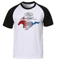 Mens Ford Mustang Pony T Shirt Vintage Licensed Classic American Muscle Car