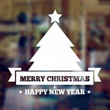Buon Natale Finestra Wall Art Sticker Decal Natale Decorazione Porta Negozio