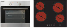 Oven Built in Oven Cooker Autark + Glass Ceramic Hob Touch Set respekta