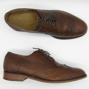 Cole Haan C10224 US 10.5 M Men Wingtip Oxford Pebbled Leather Brogue